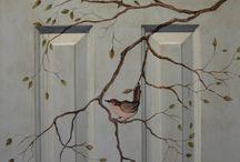 Роспись стен (мебели, дерева, камней)