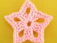 stelline a maglia e uncinetto