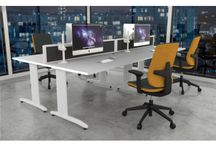 Claremont Office Furniture | Easy Office / View Claremonts range of highly customisable office furniture. Modern desks & benches with elegant, flexible design, adaptable to fit for any work space.