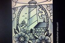 Painting by Gakni Gallo. Bläckfisk tattoo ci. Kreuzberg ,Berlin / Tattoo Painting