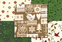 Christmas fabrics // Tissus de Noël