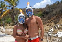 Snorkeling on St. John, USVI - New Easybreath Masks / To make things easy for you, we now also have Snorkeling Gear for rent. Simply add a snorkel package to your daily or weekly SUP Rental on St. John and you have everything you need for a great day on the water.