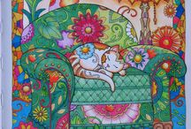 Adult coloring book Marjorie Sarnat Cats