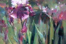 Irysy, mieczyki, storczyki, orchidea