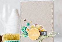 Kraft Cards / Kraft is great as a background and goes really well with either bright colours or black and white.