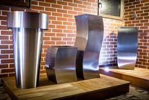 Nasza ekspozycja / Ekspozycja tarasów drewnianych, donic metalowych i podświetlanych.