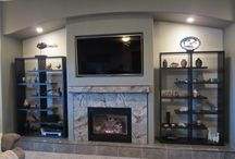 Custom fireplaces / These are fireplaces that we have built.