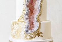 Geode cakes / Beautiful cakes with crystals, gold