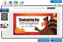 Thanksgiving | Banners.com / Thanksgiving Decorating Ideas, Thanksgiving Meal Ideas, Thanksgiving Banner Templates everything else to get you ready for Thanksgiving!