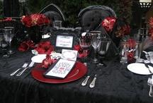 glam gothic vintage vamp wedding