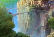 fantasy cities art