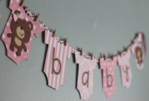 Teddy bear banner baby shower decoration