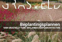 Beplantingsplannen / Een gevarieerd beeld van de beplantingsplannen die GRASVELD Tuin- en Landschapsarchitecten voor u kunnen vormgeven