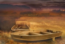 barche nel tramonto