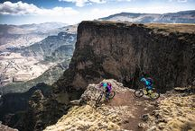 "Ethiopia Epic / Giro went on an expedition—with pro riders Sarah Leishman and Kamil Tatarkovic—to find out whether the land famous for being the ""cradle of mankind"" could someday be a MTB paradise. We spent eight days circumnavigating the Simien mountains, traveling rugged footpaths created in the sixth century. With no roads, no running water and no electricity, the crew fell into a simple routine: wake up, break camp and spend the day riding. For the full story: http://www.giro.com/us_en/ethiopia-epic  / by Giro Sport Design"