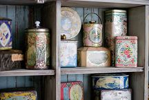 Vintage tins in home decor