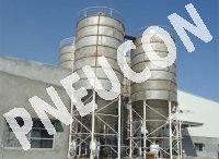 Storage silo / PNEUCON PROCESS TECHNOLOGY - Silo manufacturers in India, silo manufacturers in Gujarat, SS Silo, Lime Storage Silo in Ahmedabad, Plastic Granual Storage Silo, Cement Silo, Storage Silo manufacturers and suppliers in Ahmedabad, Gujarat, India.