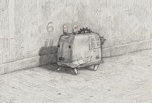 Ilustracion / art, pictures for book, drawings, paintings, etching