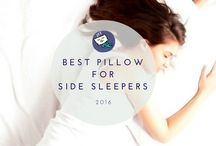 Pillows for Side Sleepers / Most people are side sleepers, side sleepers need more support for their neck than other position sleepers. When looking for best pillow for side sleepers, here is the place!