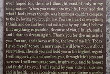 Vows / Wedding