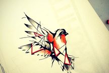 Tattoo Birds Geometric