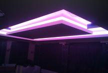 Светодиодная подсветка в помещении / Фото выполненных наших работ что касается светодиодного освещения внутри помещения, подсветка потолков, арок, мебели,