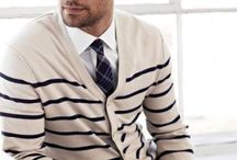 Stripes / Want to wear stripes? Start with a navy and white horizontal stripe sweater and wear with chinos then work your way around. Stripes are also a great way to pick up a plain outfit with the least amount of effort.