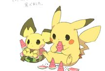 Pikachu, raichu, picchu and dedenne