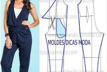Tipare salopete si rochii / Pt croitorie