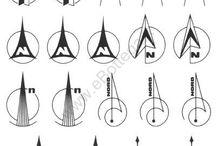 North symbols