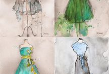 H. Sketch of clothing design / Sketching of clothing design-fashion