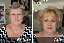 Before and afters / Some of my before and after hair and make-up creations