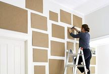 Create your own Photo Wall / Put your pictures on display by turning a blank wall into a family photo wall.