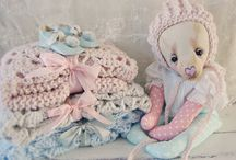 Baby bear Feline with crochet hat and blanket...