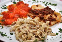 Tris di pasta fresca / Trzy domowe makarony i trzy sosy do nich