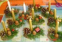 décoration des rodin de Noël