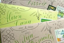 Party invites / Making your own invitations are always best.