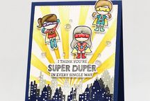 Cards super heroes