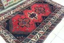 Turkish rug / Turkish handmade carpet. Vintage wool rug