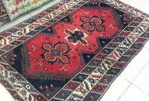 Turkish rug / Turkish handmade carpet. Vintage wool rug