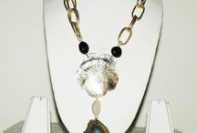 Shell Shocked! / Chic neckwear made with delightful decorative shells and brilliant stone plate pendants! Classy, yet inexpensive!