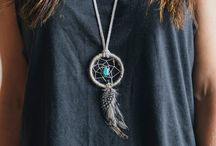 Dream Catcher / As a native American legend is told, by hanging a dream catcher over your sleeping area the bad dreams will be deterred by the bead in the feathers will attract and allow good dreams to pass through