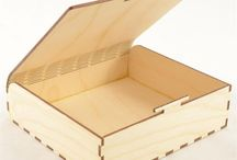 Wood boxes laser cutting