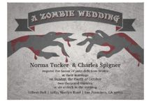 Zombie Wedding Ideas / If you're thinking of throwing a Zombie Wedding then this is a great place to get ideas.