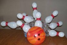 Sports ideas / Balloon decor Basketball Football Baseball Bowling Birthday Parties Super Bowl Banquets