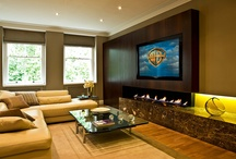 Fireplaces/Mantles/TV's / These inspirations were pinned while designing a custom home in Lafayette, 2014.