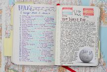 Diaries, Planners & Journalling... / I have a board for art journalling but I am really interested in using planners or daily calendars as diaries and journals, a way to keep a record of the year in a creative fashion... / by Maitri Libellule