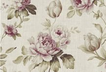 Harriet by Fryetts / Another beautiful, traditional Fryett's Floral designed in the uk and printed on slub panama.