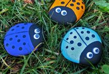 Painted Rocks / A selection of painted or artistic rocks