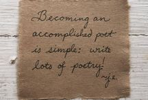 writing poetry / prompts, inspiration, encouragement ...